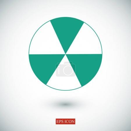 Icône de signe radioactif