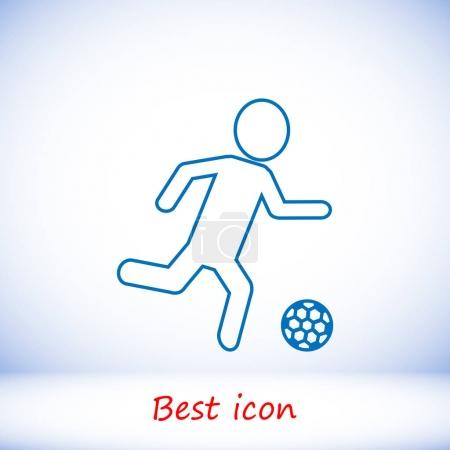 football players silhouettes icons