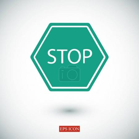 stop road icon