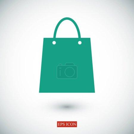 Illustration for Shopping bag icon, vector illustration - Royalty Free Image