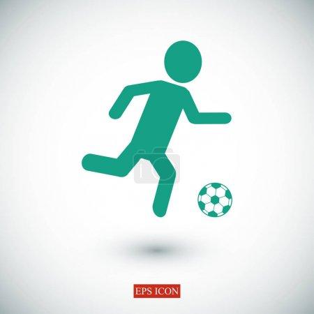 Soccer, football player silhouette icon