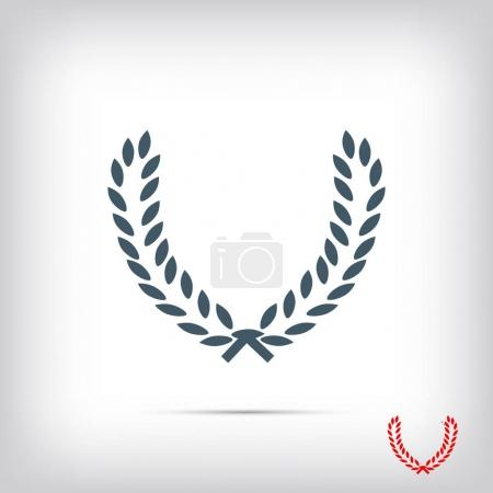 Illustration for Wheat web icon, best flat icon EPS 10 - Royalty Free Image