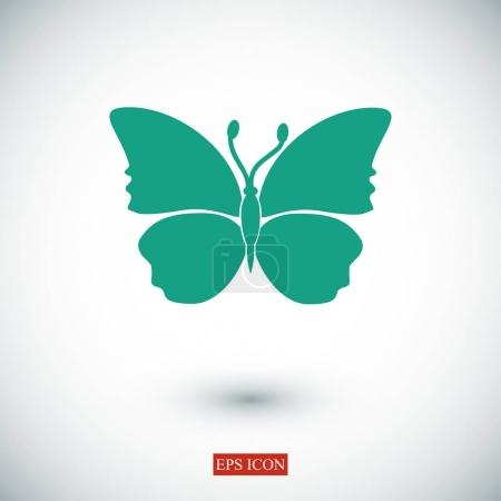 Illustration for Butterfly icon vector illustration - Royalty Free Image