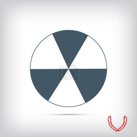 signe radioactif pulvérisé