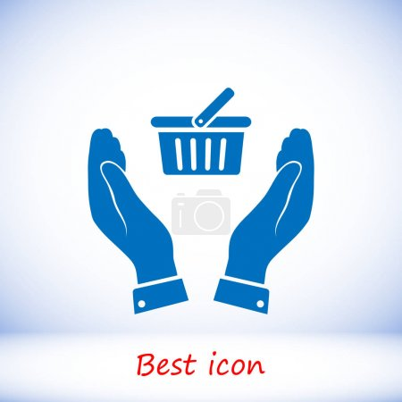 basket icon  illustration
