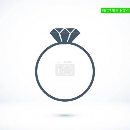 ring flat icon