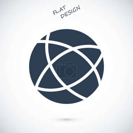 Global technology vector icon