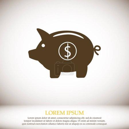 Piggy bank - saving money