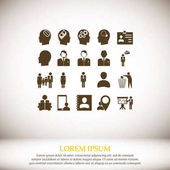 Business man icons vector illustration
