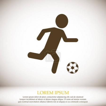 Raster version. Soccer, football player