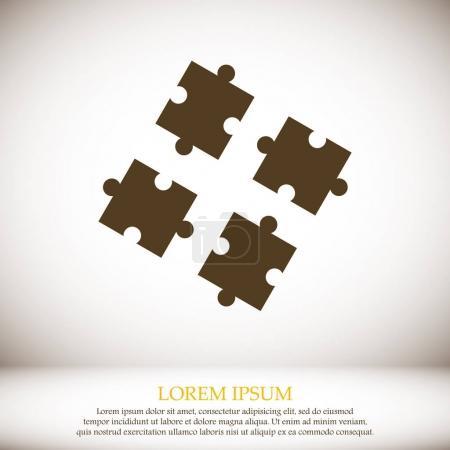 puzzles flat icon