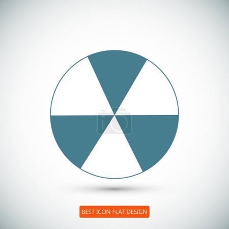 signe radioactif pulvérisé sur l'icône du barillet métallique
