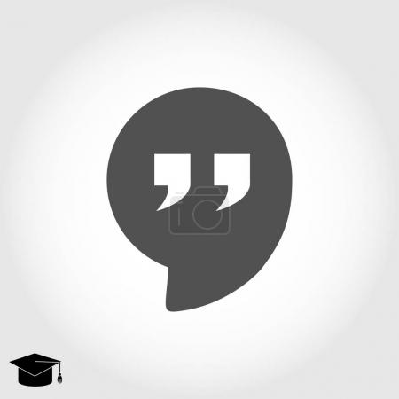 Quote flat icon
