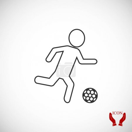 Soccer player silhouette icon