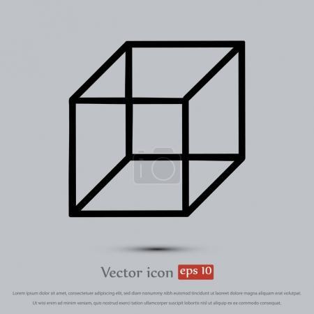 Illustration pour Icône plate cube, illustration vectorielle - image libre de droit