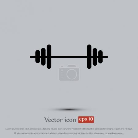 dumbells flat icon