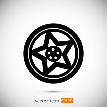 wheel sign icon