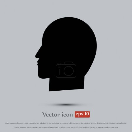 head flat icon