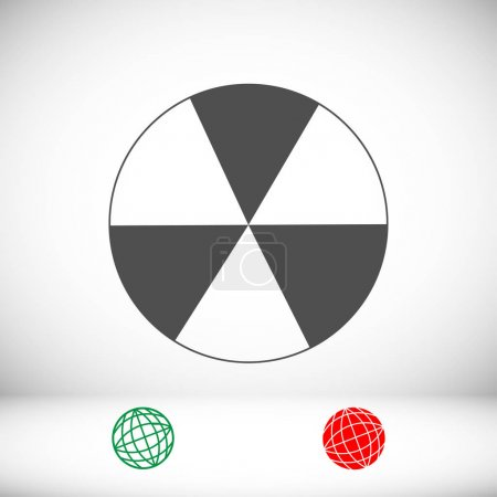 radioactive sign icon