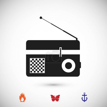 Radio flat icon, vector illustration...