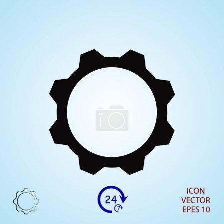 gear sign icon, vector illustration
