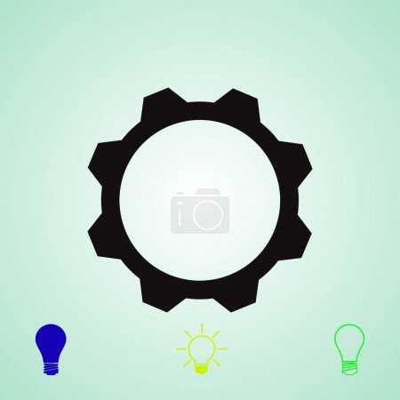gear vector icon, vector best flat icon EPS 10