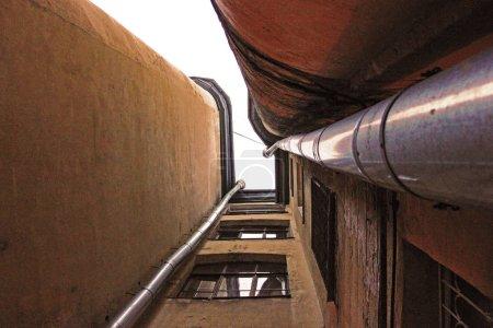 St. Petersburg, Russia court view narrow yard-well