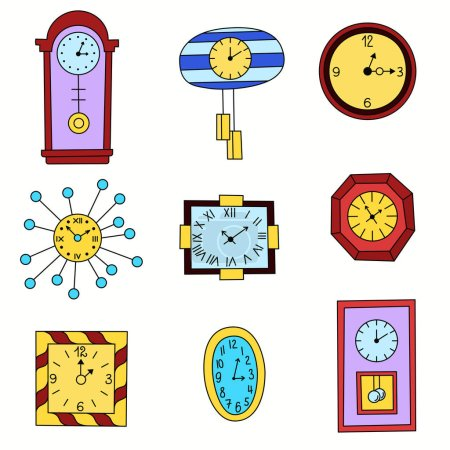 Different clocks seamless pattern