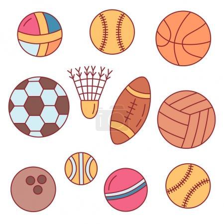 Colorful sport balls