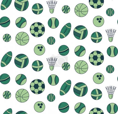 Colorful sport balls pattern