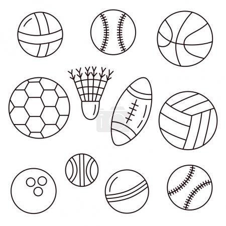 Black and white sport balls
