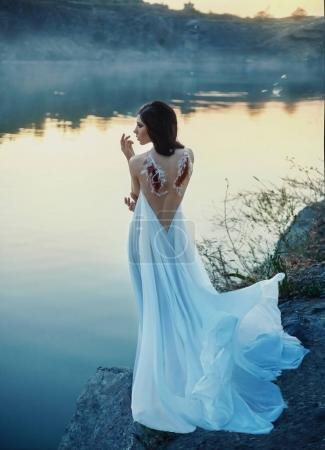 Fallen Angel. A girl with torn off wings, desperat...