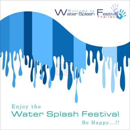 Illustration for Abstract of Songkran Festival: The Water Splash Festival. Vector and Illustration, EPS 10. - Royalty Free Image
