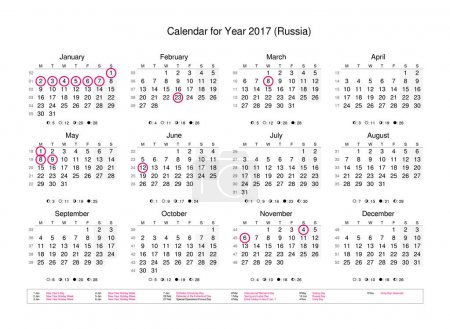 Calendar of year 2017 with public holidays and bank holidays
