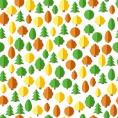 Seamless forest pattern. Seamless background with trees in flat style