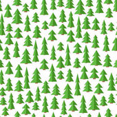 Seamless forest pattern. Seamless background with trees in flat style.