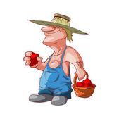 Cartoon farmer or redneck