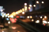 Bokeh Night city lights. Colorful background