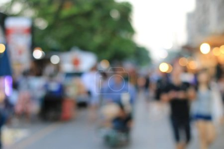 Photo for Blurred image of people on the street - Royalty Free Image