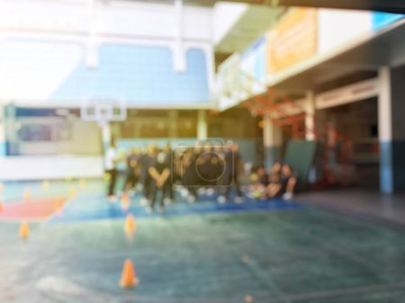 Photo for Abstract blurred picture with people. Vintage tone blurred photo shot. - Royalty Free Image