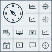 Set Of 12 Universal Editable Icons Can Be Used For Web Mobile And App Design Includes Icons Such As Locate Analytics Appointment And More
