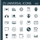 Set Of 25 Universal Editable Icons Can Be Used For Web Mobile And App Design Includes Icons Such As Paper Newsletter Employee Location And More