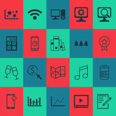 Set Of 20 Universal Editable Icons Can Be Used For Web Mobile And App Design Includes Icons Such As Library Raise Diagram Laptop And More