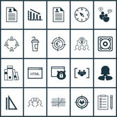 Set Of 20 Universal Editable Icons Can Be Used For Web Mobile And App Design Includes Icons Such As Business Woman Line Grid Music And More