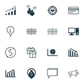 Set Of 16 Universal Editable Icons Can Be Used For Web Mobile And App Design Includes Icons Such As SEO Brainstorm Circle Graph Focus Group And More