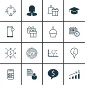 Set Of 16 Universal Editable Icons Can Be Used For Web Mobile And App Design Includes Icons Such As Innovation Money Plot Diagram And More