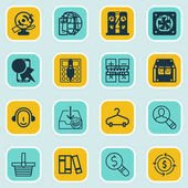 Set Of 16 Ecommerce Icons Includes Peg Rich Discount Coupon And Other Symbols Beautiful Design Elements