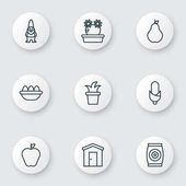 Set Of 9 Plant Icons Includes Bush Pot Floweret Maize And Other Symbols Beautiful Design Elements