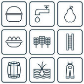 Set Of 9 Planting Icons Includes Ovum Package Cask And Other Symbols Beautiful Design Elements