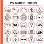 Set Of 25 Universal Editable Icons Can Be Used For Web Mobile And App Design Includes Elements Such As Local Connection Stoplight Website Page And More